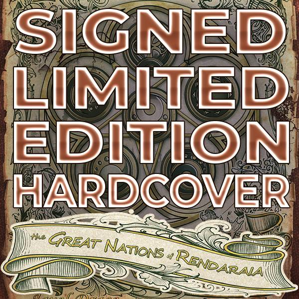 Childre of Gaia: The Great Nations of Rendaraia. Signed, Limited Edition, Numbered, Hardcover, Fantasy, Book.