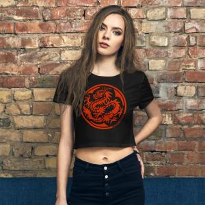 Red Dragon Clan crest crop top