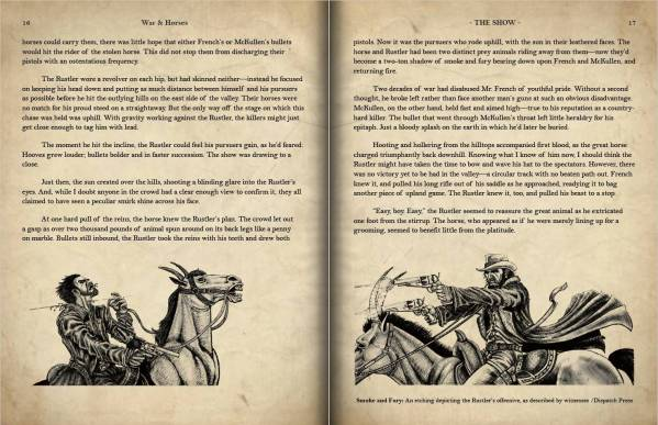 Children of Gaia: War and Horses - Double Page Spread preview of pages 16-17