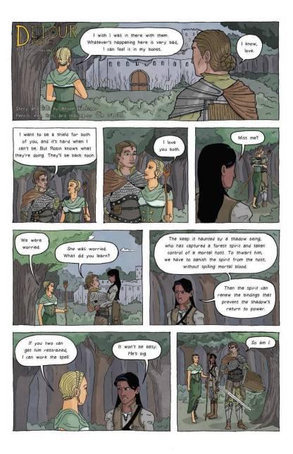 detour part 2 poly inclusive adventure magic knight fantasy allison bannister tom o'brien oneshi press justice anthology