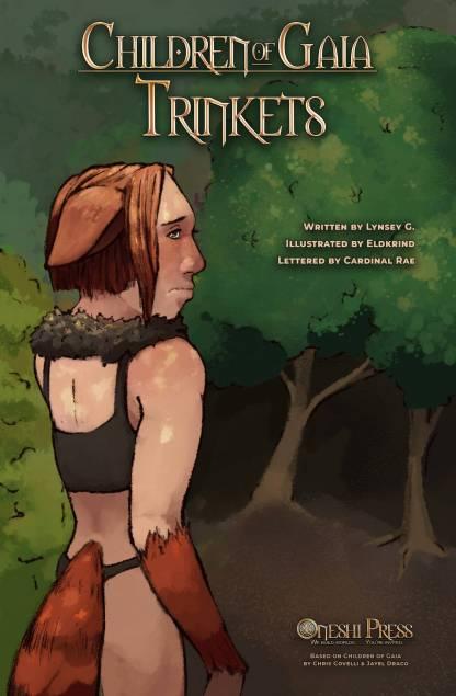 Children of Gaia: Trinkets, written by Lunsey G., illustrated by Eldkrind