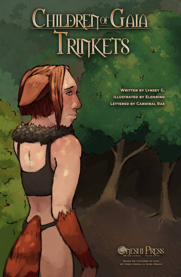 Children of Gaia: Trinkets, written by Lunsey G., illustrated by Eldkrind