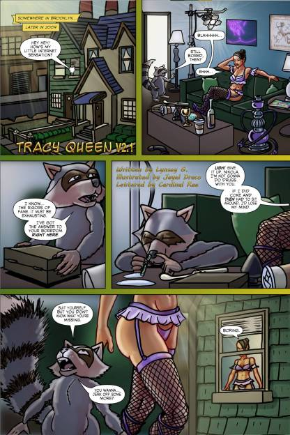 Tracy Queen Volume 2 page 1 - Free sample comicbook page