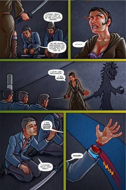 Tracy Queen Volume 2 page 8 - Free sample comicbook page