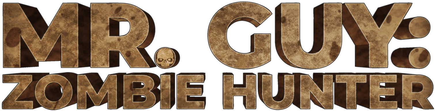 Mr. Guy: Zombie Hunter 3d text logo