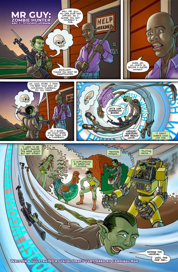 Mr. Guy: Arc 1, Act 1, Page 1, by Jayel Draco