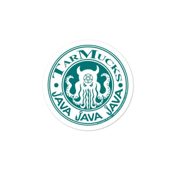 Tarmucks corporate coffee franchise sticker