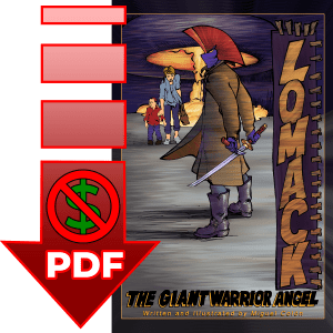 Lomack The Giant Warrior Angel comic book free sample preview pdf download