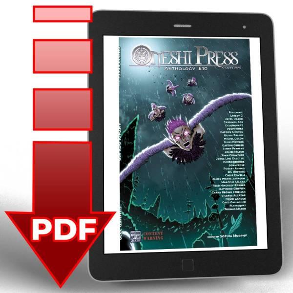 Oneshi Press Comics Anthology 10, Origins: Cover PDF Digital Download square