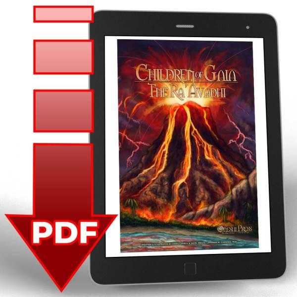 """Children of Gaia: The Ra'Avadhi"" short comic book digital .pdf download icon"