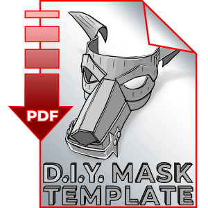 DIY Mask of Patience Template Download