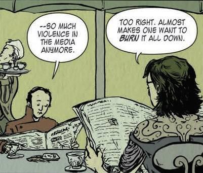 comicbook panel Jason Hart Maroon Oneshi Press