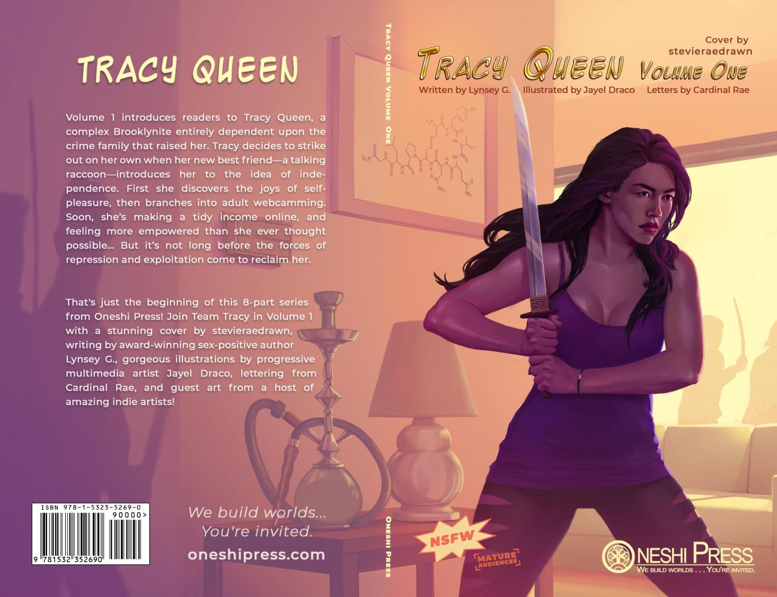 tracy queen volume 1 cover reveal oneshi press stevieraedrawn