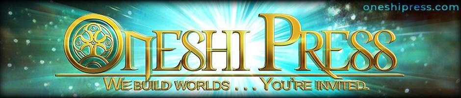 Oneshi Press Cosmic radiation metallic logo banner with the crest of Mithera from Children of Gaia