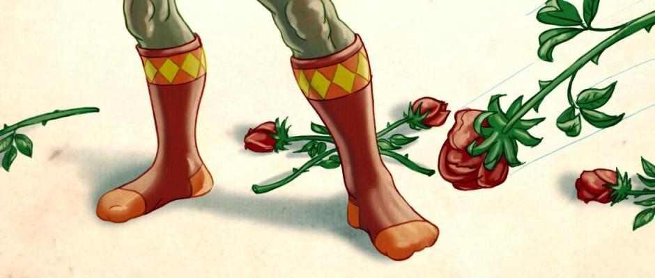 dirty dancing mr guy zombie hunter socks roses