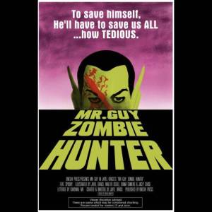 mr guy zombie hunter george romero dawn of the dead movie poster by sophia murphy