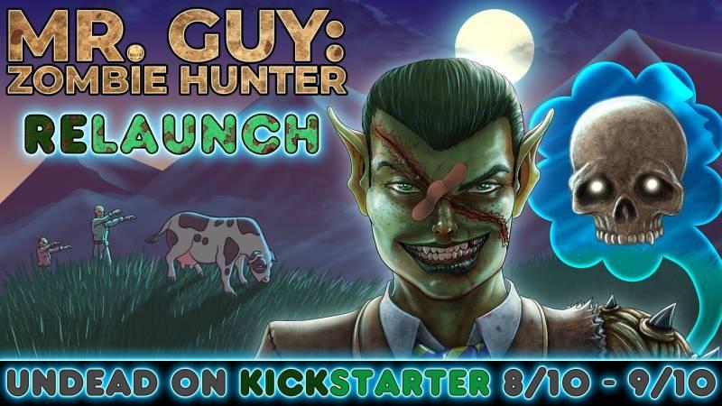 mr guy zombie hunter relaunch banner