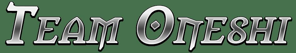 Team Oneshi: Metallic title banner