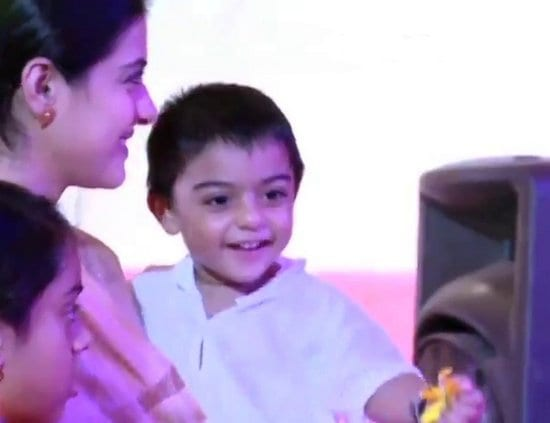 Kajol Spotted with her son Yug & daughter Nysa