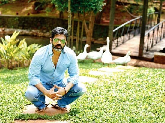 Suniel Shetty & Mana Shetty at Home in Khandala