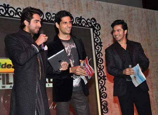 Varun Dhawan, Siddarth Malhotra, Ayushmann Khuranna, Deepika Padukone, Imran Khan & Madhavan at the Filmfare Nominations Party