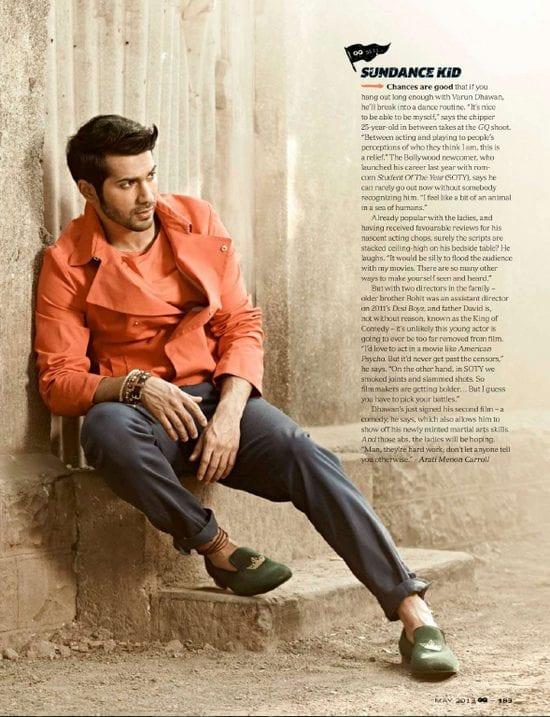 Varun Dhawan on GQ Magazine