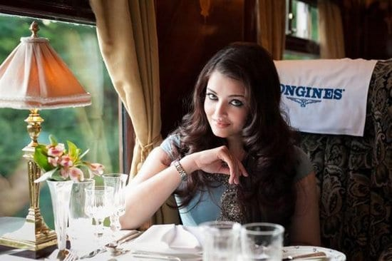 Aishwarya Rai Bachchan on the Orient Express Train at the Longines Dinner