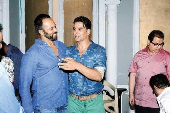 Akshay Kumar and Tamannaah on the sets of It's Entertainment