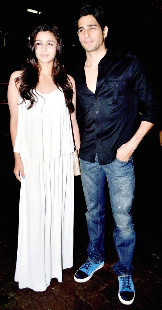 Alia Bhatt, Siddharth Malhotra at Arjun Kapoor's Birthday Party