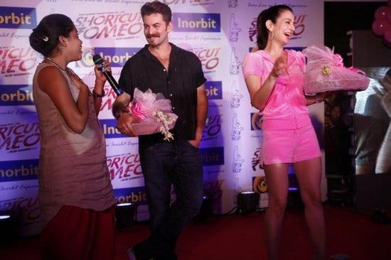 Ameesha Patel and Neil Nitin Mukesh promote Shortcut Romeo