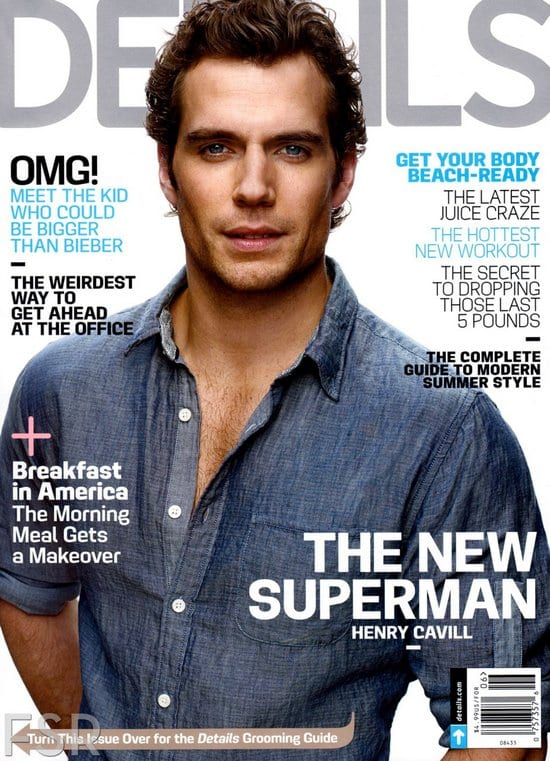 Henry Cavill on Details Magazine