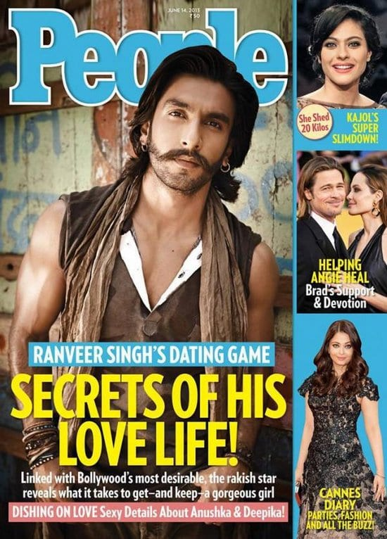 Ranveer Singh on People Magazine