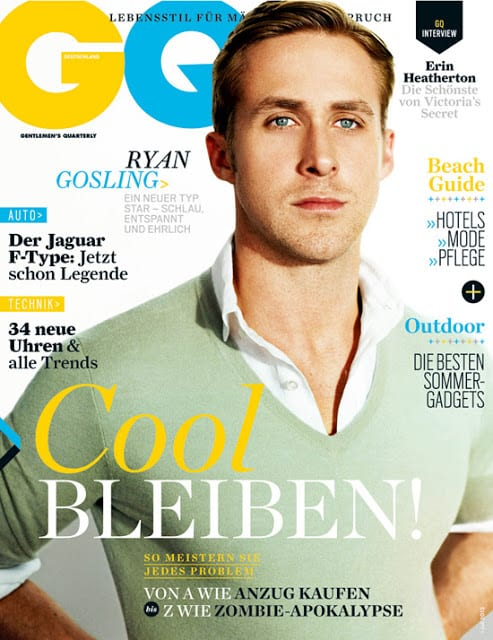Ryan Gosling on GQ Magazine