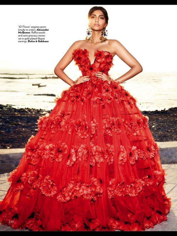 Sonam Kapoor on Vogue Magazine