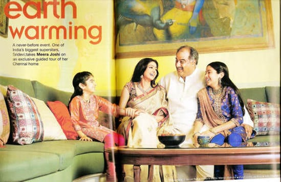 SriDevi's Family - Jhanvi Kapoor, Boney Kapoor, Khushi Kapoor and Sridevi