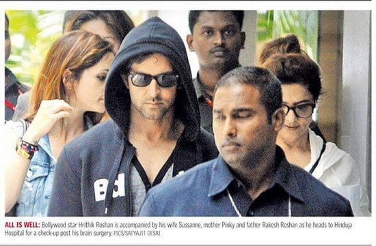 Hrithik Roshan and his Family Spotted at the Hospital