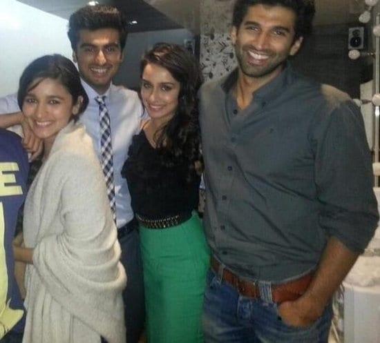 Shraddha Kapoor and Aditya Roy Kapur Spotted with Arjun Kapoor and Alia Bhatt on the sets of 2 States