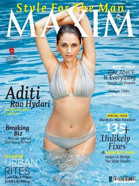 Aditi Rao Hydari on Maxim Magazine