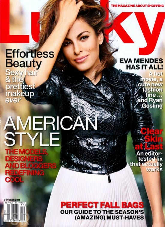 Eva Mendes on Lucky Magazine
