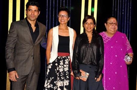 Farhan Akhtar, Adhuna Akhtar, Zoya Akhtar, Honey Irani at Rakesh Roshan's Birthday Celebrations