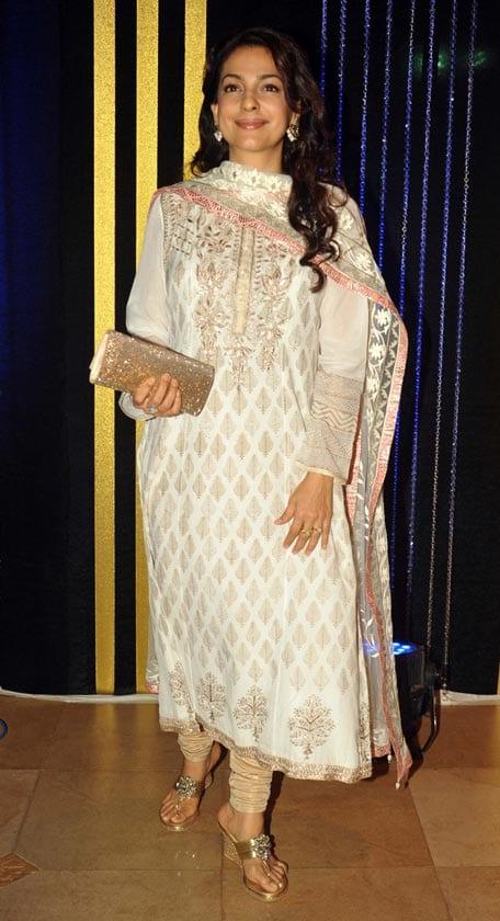 Juhi Chawla at Rakesh Roshan's Birthday Celebrations