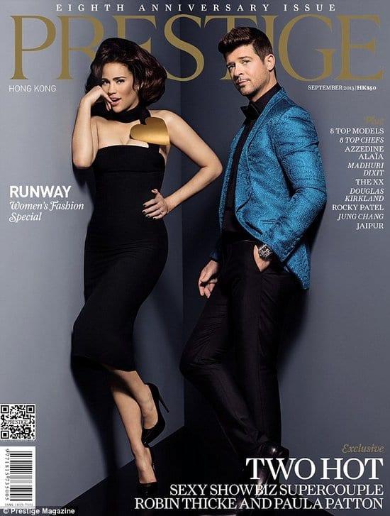 Robin Thicke and Paula Patton on Prestige Magazine