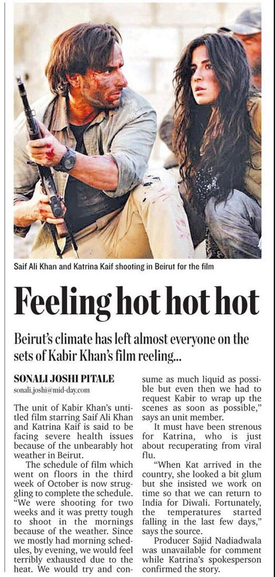 Mistake of Journalist or Katrina Kaif PR Team