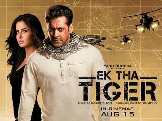 Ek Tha Tiger - 186 crore - Salman Khan & Katrina Kaif