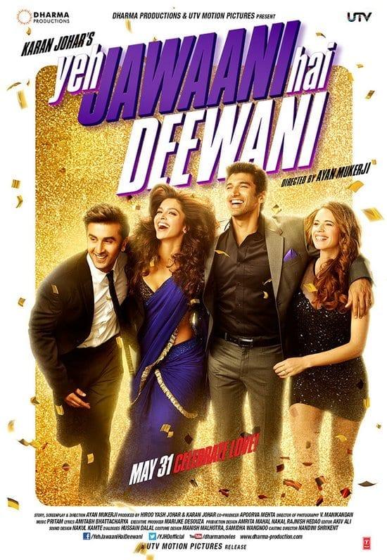 Yeh Jawaani Hai Deewani - 179 crore - Ranbir Kapoor & Deepika Padukone