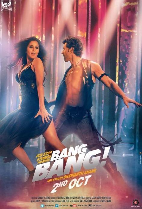 Katrina Kaif and Hrithik Roshan in Bang Bang New Posters