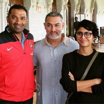 Aamir Khan Spotted with a New Look for Dangal