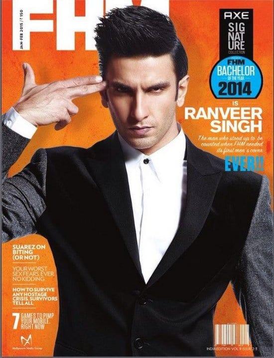 Ranveer Singh in FHM Magazine