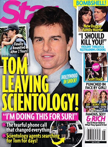 Tom Cruise on Star Magazine