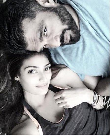 Athiya Shetty Spotted with Suniel Shetty